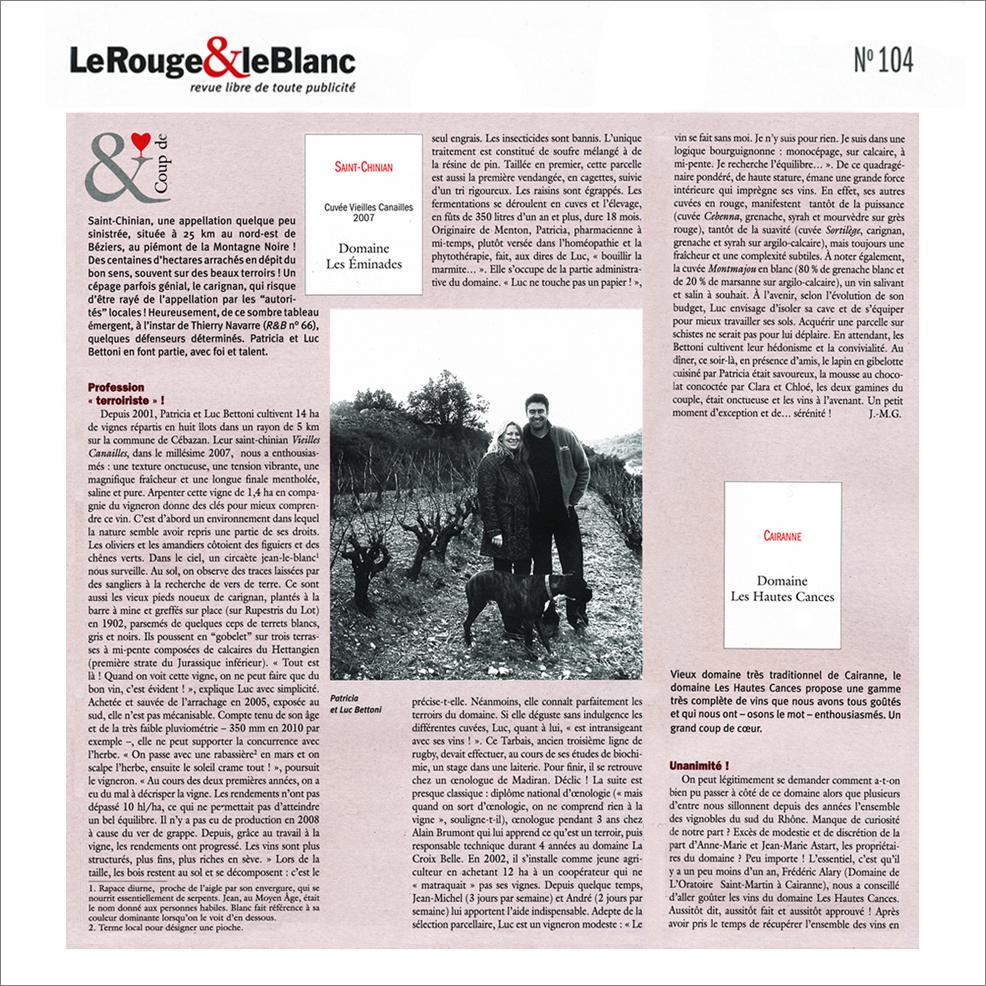 revue-le rouge et le blanc-2012