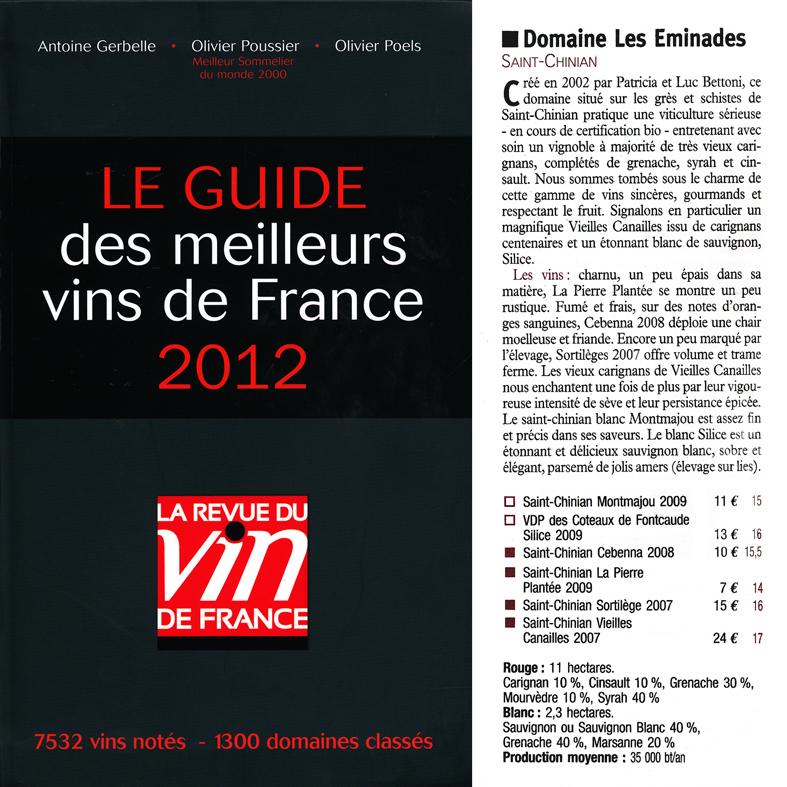 guide les meilleurs vins de france-2012